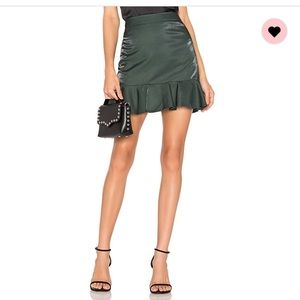 Revolve metallic skirt